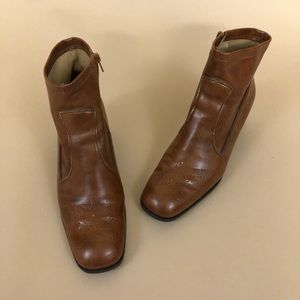 Franco Sarto Brouge Vegan Leather Sock Bootie